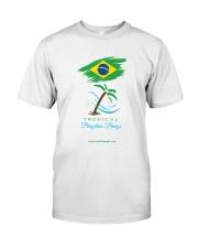 Tropical Brazilian Breeze Flag 1 Classic T-Shirt front
