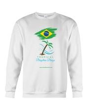 Tropical Brazilian Breeze Flag 1 Crewneck Sweatshirt thumbnail