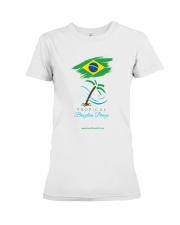 Tropical Brazilian Breeze Flag 1 Premium Fit Ladies Tee thumbnail