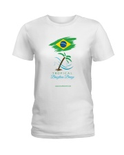 Tropical Brazilian Breeze Flag 1 Ladies T-Shirt thumbnail