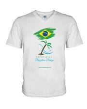 Tropical Brazilian Breeze Flag 1 V-Neck T-Shirt thumbnail