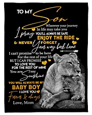 """Gift for Son Small Fleece Blanket - 30"""" x 40"""" front"""