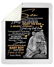"""Gift for Son Sherpa Fleece Blanket - 50"""" x 60"""" thumbnail"""