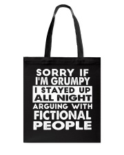 Grumpy Writer Tote Bag tile