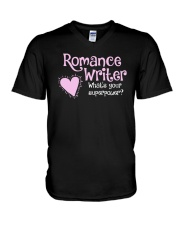 Romance Writer Superpower V-Neck T-Shirt thumbnail