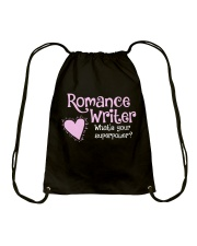 Romance Writer Superpower Drawstring Bag thumbnail