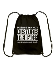 Do Not Disturb Reader Funny Humor Drawstring Bag thumbnail