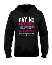 Pay No Attention To My Browsing History Pink Hooded Sweatshirt thumbnail