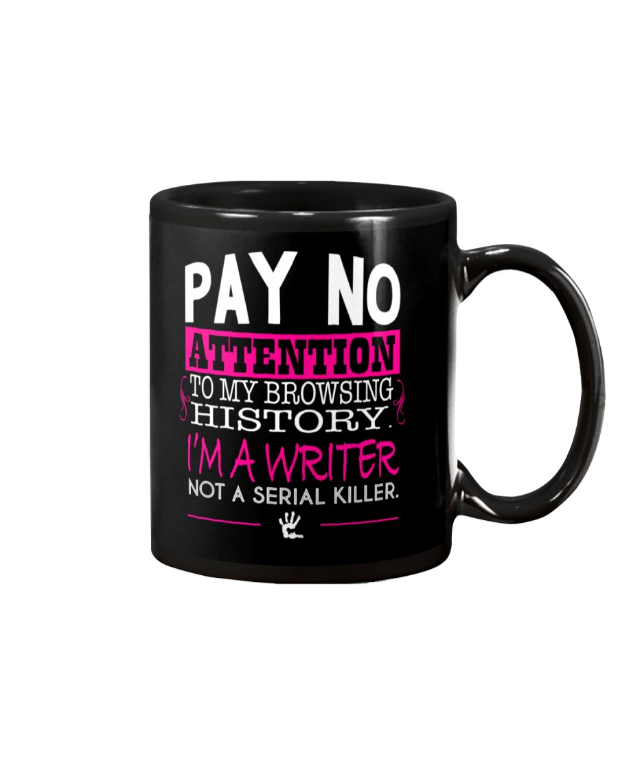Pay No Attention To My Browsing History Pink Mug