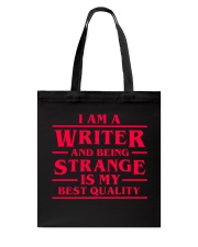 Writers Are Strange Tote Bag tile