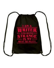 Writers Are Strange Drawstring Bag thumbnail