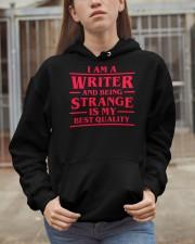 Writers Are Strange Hooded Sweatshirt apparel-hooded-sweatshirt-lifestyle-07