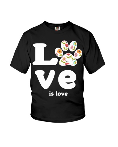 Cool pet paw dog cat love is love animal adopt