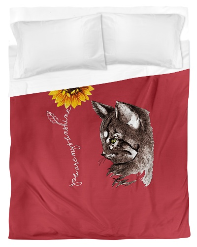 Sunflower Cat Hippie Gift Friends Cats Lovers
