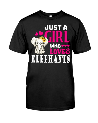 Elephant Shirt Just A Girl Who Loves Elephants