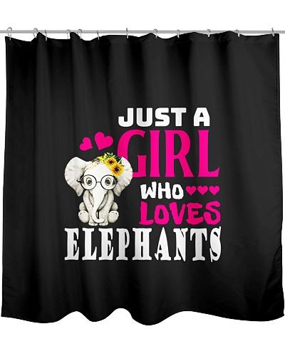 Elephant Shirt Just A Girl Who Loves Elephants