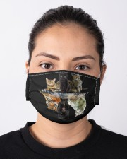 Cats Reflection Gift Friend Cat Lovers Cut Tiger  Cloth face mask aos-face-mask-lifestyle-01