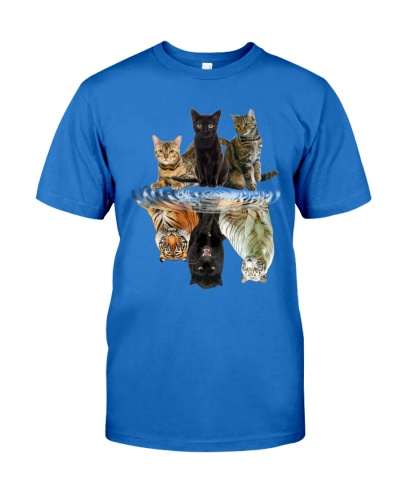 Cats Reflection Gift Friend Cat Lovers Cut Tiger