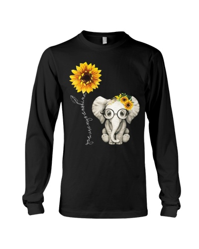 Elephant Lovers Hippie Sunflower For Gift Friend