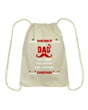 dad the man the myth the legend merry christmas Drawstring Bag thumbnail