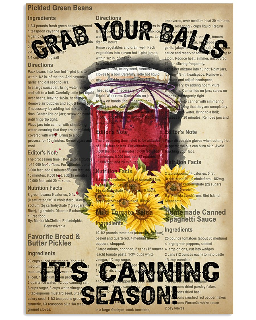 Grab your Balls It's Canning Season 16x24 Poster