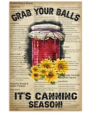 Grab your Balls It's Canning Season 16x24 Poster front