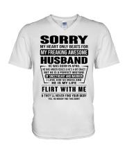 MY FREAKING AWESOME HUSBAND-PCC V-Neck T-Shirt thumbnail