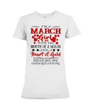 A HEART OF GOLD MARCH Premium Fit Ladies Tee thumbnail