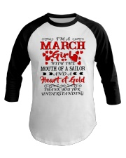 A HEART OF GOLD MARCH Baseball Tee thumbnail
