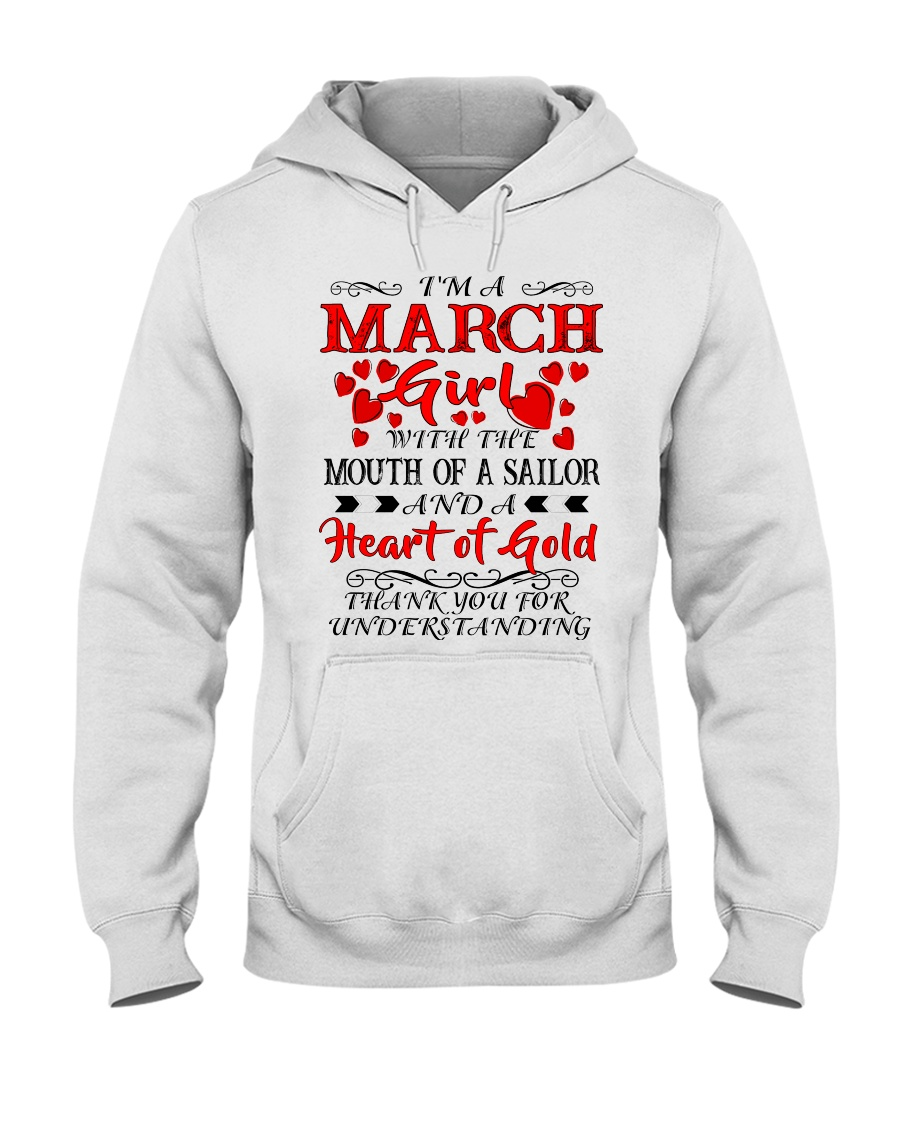 A HEART OF GOLD MARCH Hooded Sweatshirt