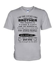 BROTHER - SINGLE V-Neck T-Shirt thumbnail