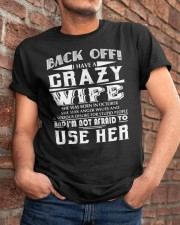 I HAVE A CRAZY WIFE October Classic T-Shirt apparel-classic-tshirt-lifestyle-26