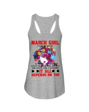 I CAN BE MEAN MARCH Ladies Flowy Tank thumbnail
