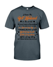 I HAVE BEST HUSBAND IN THE WORLD NOVEMBER Classic T-Shirt thumbnail