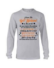I HAVE BEST HUSBAND IN THE WORLD NOVEMBER Long Sleeve Tee thumbnail