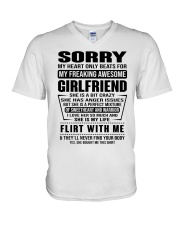 GIRLFRIEND-SORRY V-Neck T-Shirt thumbnail