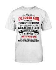 CRAZY GIRL 10 Classic T-Shirt thumbnail