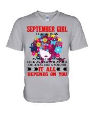 I CAN BE MEAN SEPTEMBER V-Neck T-Shirt thumbnail