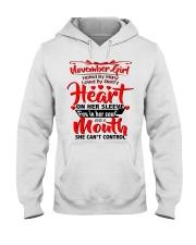 NOVEMBER GIRL Hooded Sweatshirt front