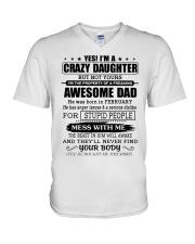 AWESOME DAD - 2 - DTS V-Neck T-Shirt thumbnail