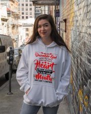 DECEMBER GIRL Hooded Sweatshirt lifestyle-unisex-hoodie-front-1
