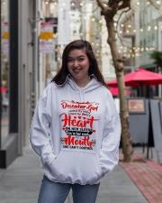 DECEMBER GIRL Hooded Sweatshirt lifestyle-unisex-hoodie-front-2