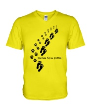 Never walk alone V-Neck T-Shirt thumbnail