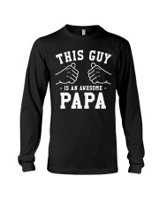 THIS IS AN AWESOME PAPA Long Sleeve Tee thumbnail