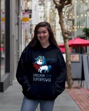 SARCASM IS MY SUPERPOWER Hooded Sweatshirt lifestyle-unisex-hoodie-front-2