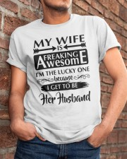 MY WIFE IS FREAKING AWESOME Classic T-Shirt apparel-classic-tshirt-lifestyle-26