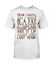 Dear Santa - My Crazy Page Classic T-Shirt tile