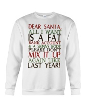 Dear Santa - My Crazy Page Crewneck Sweatshirt tile