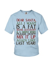 Dear Santa - My Crazy Page Youth T-Shirt thumbnail
