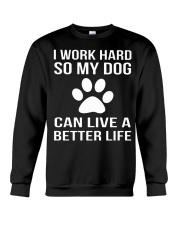 Rockin' Dog mom life Crewneck Sweatshirt thumbnail